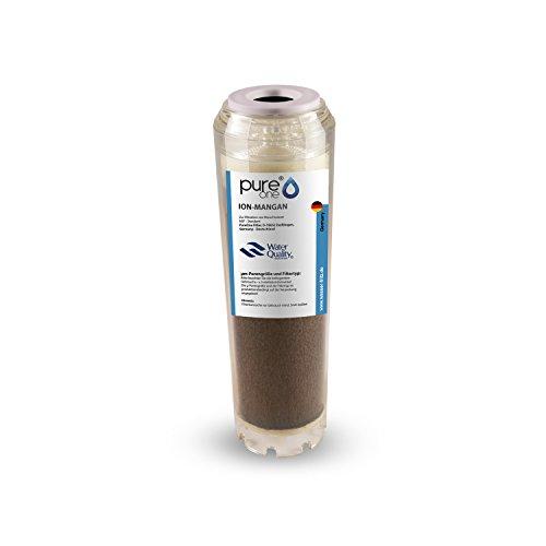 PureOne ION Mangan 100% Entmanganungs-Granulat. Ergänzend zu einem Enteisenungsfilter. Die Wasserfilter-Kartusche f. Hauswasserwerk Wasserpumpen. Für 10 Zoll Wasserfilter Gehäuse. Druckstabil