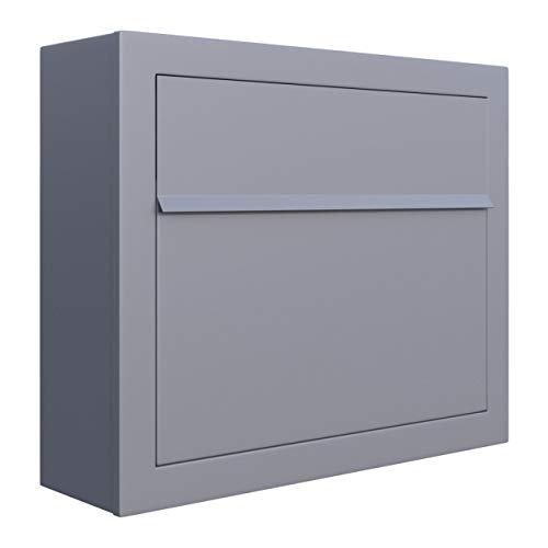 Briefkasten, Design Wandbriefkasten Elegance Grau Metallic - Bravios
