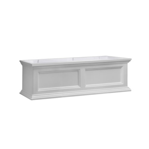 Mayne Fairfield 5822W Window Box Planter, 3-Foot, White