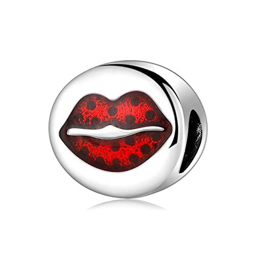 LISHOU Encantador Perfume Maquillaje Esmalte De Uñas Cuentas De Plata Esterlina 925 Ajuste Original Pandora Charm Pulseras Collar DIY Joyería De Mujer Regalo D1