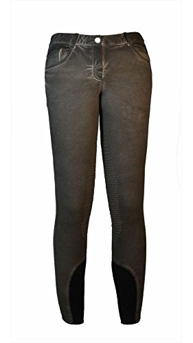 Equiline Stella Pantaloni da Equitazione da Donna Half Grip Mud F/S 18, 40