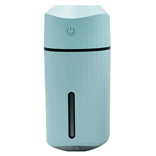 TaoRan USB-Luftbefeuchter Desktop einfache Mini Luftreiniger Bunte Nachtlicht nach Hause Auto Luftbefeuchter entfernen trockene nachhaltige Nutzung 4-6 Stunden-Blau