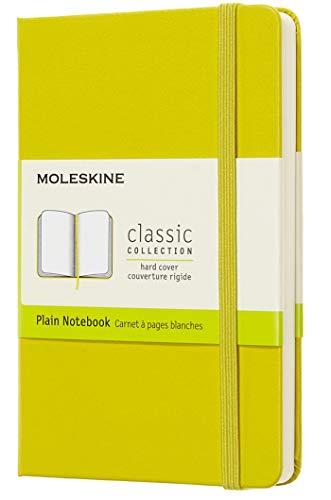 Moleskine Notebook Classic con Pagine Bianche, Taccuino Copertina Rigida e Chiusura ad Elastico, Colore Giallo Dente di Leone, Dimensione Pocket 9 x 14 cm, 192 Pagine