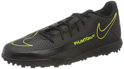 Nike Phantom GT Club TF, Scarpe da Calcio Unisex-Adulto, Black/Black-Cyber-lt Photo Blue, 44.5 EU