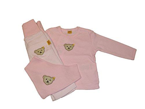 Steiff Baby Set für Mädchen, Hose, Shirt & Nickytuch, Gr. 56