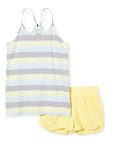 Schiesser Mädchen Anzug kurz Zweiteiliger Schlafanzug, Gelb (Gelb 600), (Herstellergröße: 176)