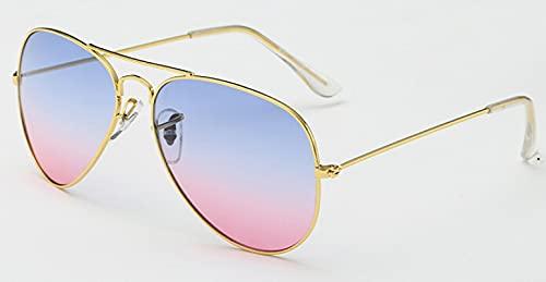 ShZyywrl Gafas De Sol De Moda Unisex Gafas De Sol Piloto Mujer Hombre Gafas De Sol Clásicas Real Aire Libre Drivinmale Bluepink