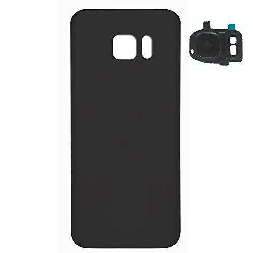 UU FIX Tapa trasera de la batería con cristal trasero de la cámara para Samsung Galaxy S7 (SM-G930F) Negro
