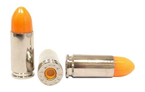 St Action Pro Pack Of 5 Inert 9mm 9x19mm Parabellum NATO Luger Pistol Orange Safety Trainer...