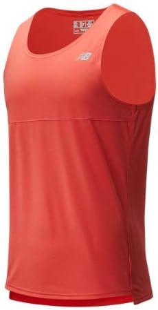 New Balance Camiseta Sin Manga Rojo para Hombre