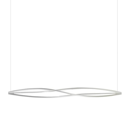 In The Wind LED lampada a sospensione orizzontale, weiß/matt/BxH 183x19cm/5700lm/2700K/ dimmbar, Standard, FIX 220.00 volts