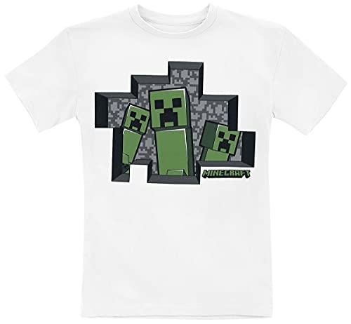 Minecraft Camiseta para niños & Babies, color negro y verde, Blanco, 8...