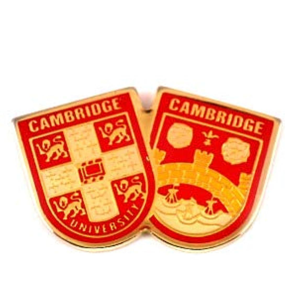 パトロール狭いインフルエンザ限定 レア ピンバッジ ケンブリッジ大学2つの紋章 ピンズ フランス