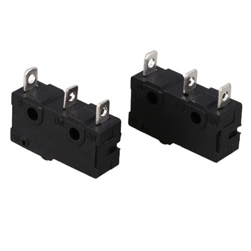 U-K Nice Design - Microinterruptor de botón (2 unidades), color negro