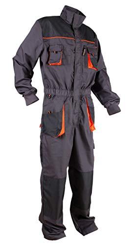 Stenso Stenso Emerton® - Herren Arbeitsoverall mit vielen Taschen/Cargo - Dunkelgrau/Schwarz/Orange 46