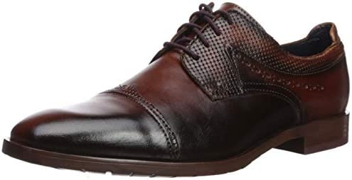 STACY ADAMS Men s Raiden Cap Toe Oxford Tan with Burgundy 10 5 M US product image
