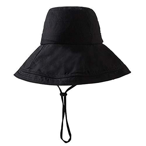 1 gorra de algodón casual para mujer, protección UV, portátil, protector solar, para pesca, camping, viajes, negro, práctico y útil