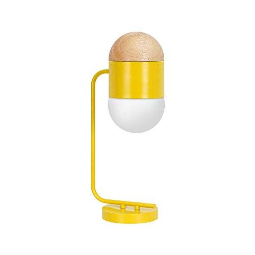 LLLQQQ Lámpara de mesa de metal para dormitorio creativo, lámpara de cabecera, lámparas decorativas personalizadas, modelo de hotel, habitación de 22 cm x 50 cm