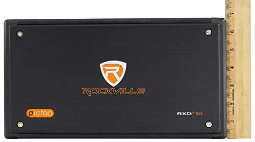 Rockville RXD-F30 Micro Car/ATV Amplifier 2400w Peak 4 Channel 4x150W/CEA Rated