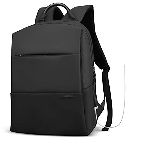 School Backpack 15.6', Slim Laptop Rucksack with USB Charging Port High School Computer Backpack Bag Water Resistant College Student Daypack for Girl/Boy/Teenagers (Classic)
