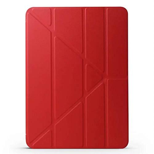 YYLKKB para Apple iPad Air 4 Funda de Silicona Suave 2020 para iPad Air 4 10.9 Caso Multi Plegable Funda para iPad Air 4 Generation Tablet Funda-Rojo_para iPad Air 4 2020