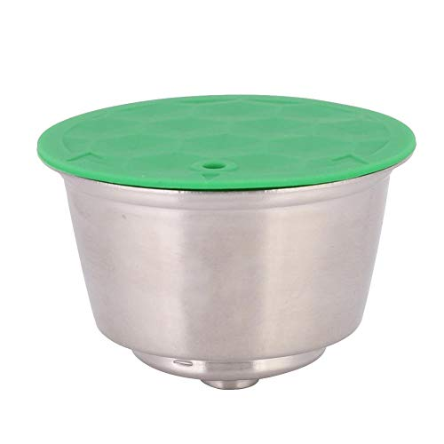 Kapsułki do kawy, ze stali nierdzewnej, wielokrotnego użytku, precyzyjny filtr do kawy z silikonowymi pokrywkami, łatwe do czyszczenia, lepsze zmielenie kawy