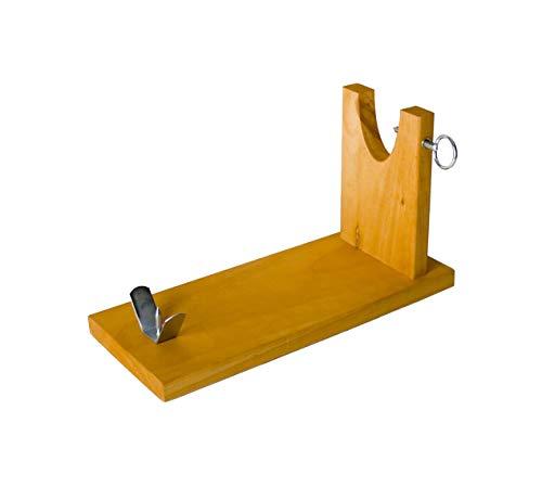 EUROXANTY® Schinkenhalter | Schinkenhalter | Schinkenhalter | Schinkenhalter aus Holz | für alle Schinkenarten | Brett 41 cm 29 cm hoch | Modell Bank