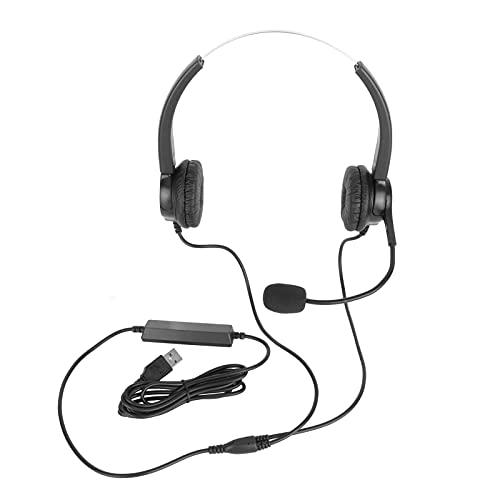 CUTULAMO Auriculares para Conversaciones de Negocios, Auriculares para Servicio al Cliente Auriculares para teléfono Ajustables Sonido Claro para Llamadas al Servicio al Cliente