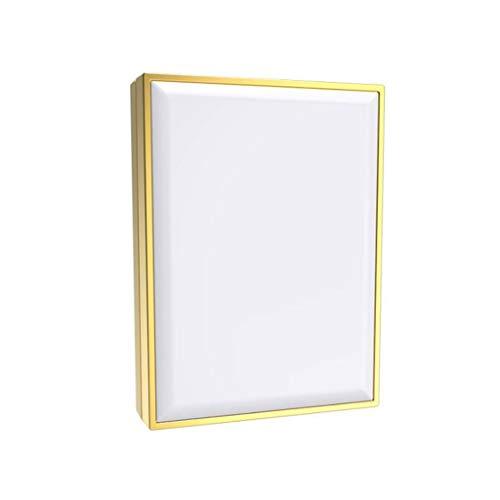 Miroir Maquillage, Le miroir de maquillage illuminé portatif carré, LED a allumé le grossissement 1X et 10X double face pliable pour le voyage à la ma