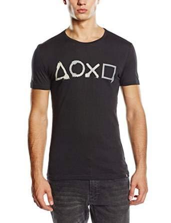 Playstation T-Shirt -M- Controller Buttons, schwar