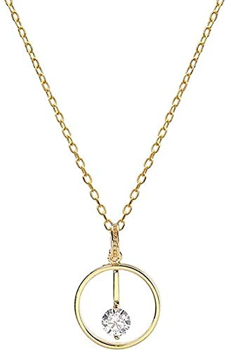Collar Collar Collares Anillo de diamantes Collar con colgante de plata 925 para mujer Joyería de moda Viene en vacaciones o cumpleaños para mujeres y niñas Regalo para mujeres y niñas