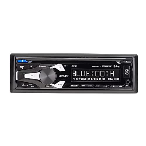 Jensen JCR311 High Resolution LCD Single DIN Car Stereo | Bluetooth | CD Player | USB & MP3 | Siri/Google Assist Button