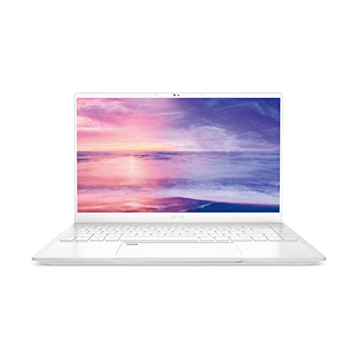 MSI Prestige 14 A10SC-051 White 14' Ultra Thin and Light Professional Laptop Intel Core i7-10710U GTX1650 MAX-Q 16GB DDR4 512GB NVMe SSD Win10Pro