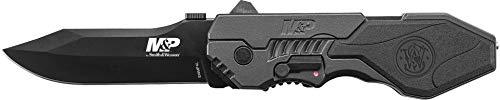 Smith & Wesson SWMP4L Smith&Wesson Military & Police Klappmesser | Klingenlänge: 8,89 cm-Griff: Aluminium-M&P Large Linerlock, Stahl, Mehrfarbig