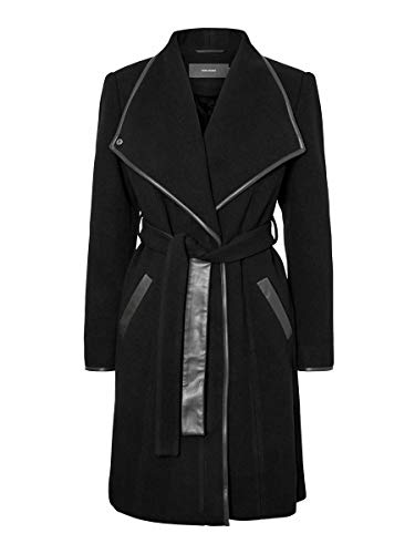 Vero Moda VMWATERFALL Class 3/4 Wool Jacket LCS Chaqueta, Negro, XL para Mujer