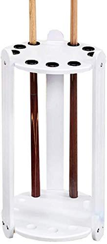 chaozhi Massivholz-Pool-Queue-Gestell, vertikaler bodenstehender Queue-Halter, Billard-Bar-Aufbewahrungsständer für Billard-Räume, Platz für 9 Pool-Queues-White||35x60cm