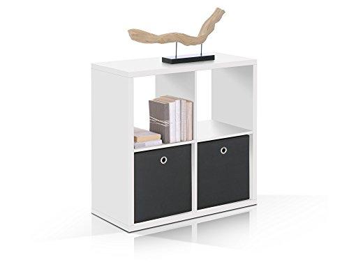 moebel-eins Maxi Regal 4er Würfel, Material Dekorspanplatte, Weiss