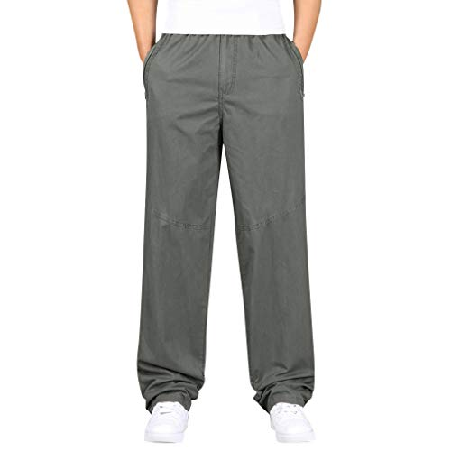 Makalon herenbroek, rechte snit, casual snit, nieuwe stijl voor mannen, slim, boyfriends baggy-broek, elastische taille