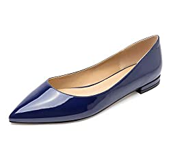 Microfiber material and comfortable lining Classic pointed toe pumps with 0.4 inch or 1CM heel,normal shoe width Classic flats pumps,sexy and comfortable design,excellent workmanship Elegant closed toe designed,comfortable and sexy to wear,show your ...