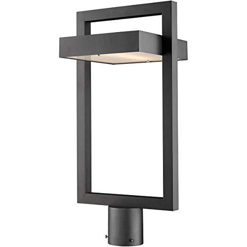 Z-Lite 566PHBR-BK-LED 1 Light Outdoor Post Mount Fixture, Black