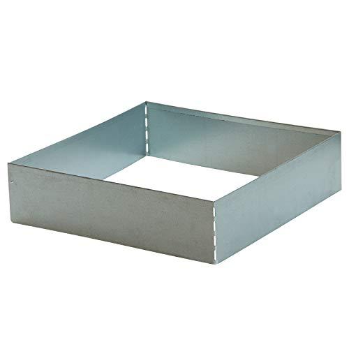bellissa Rasenkante Square - 99726 - Stahlblech feuerverzinkt, silberfarbig - quadratisch - 50 x 50 x 13 cm - Mit patentierter Verbindungstechnik
