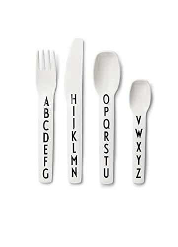Design Letters - Kinderbesteck, Besteckset - Melamin - Arne Jacobsen - 4 TLG. Set