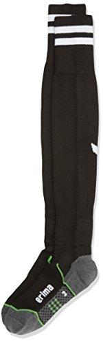 Erima Herren Stutzenstrumpf Stripes, Schwarz/Weiß, 44