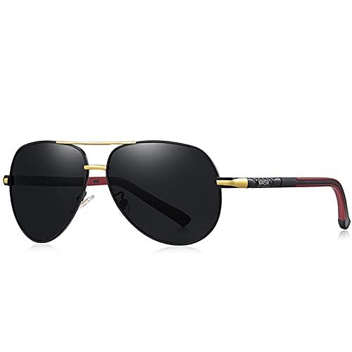 YWSZY Gafas de Sol Gafas de Sol de Hombre Retro de Aluminio Película polarizada de los Hombres Classic Gafas de Sol Señoras Sombra de Sol para Hombres Accesorios de conducción para Hombres Gafas