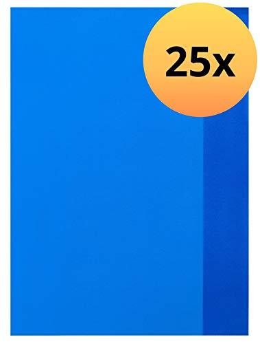 ELBA 100420076 Heft-Hüllen 25 Stück DIN A4 blau-transparent, Heft-Umschlag flexibel & abwischbar, Buch-Schoner mit Einband, Schutz-Hülle für Arbeits- & Schulhefte