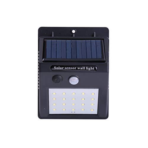 2 x wandlamp op zonne-energie met bewegingssensor, li-ion-accu (20 leds).
