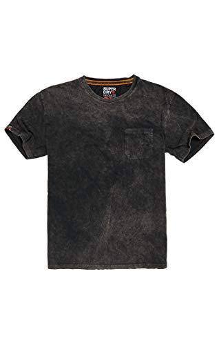 Superdry Herren Surplus Goods Box FIT Tee T-Shirt, Schwarz (Washed Black AFB), Large
