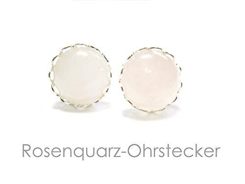 Ohrstecker Rosenquarz Silber Ohrringe Schmuck