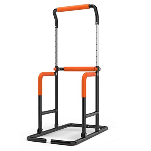 Pull-up Bar Stand Strenth Training Pull-up Bars Power Tower Workout Dip Station for Home Gym Free Standing Fitness Equipment (Color : Black)