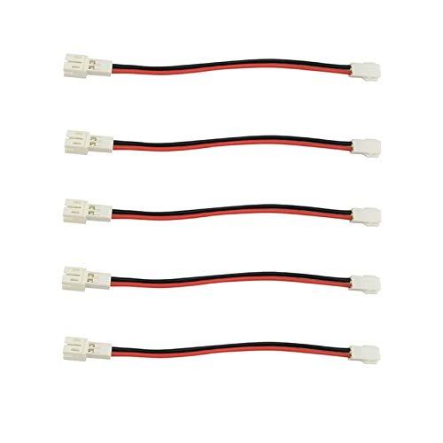 JIEIIFAFH 5pcs Lipo di Carica della Batteria Linee connettore for DIY FPV E010 JJRC H36 Piccolo Whoop RC Drone PH2.0 Plug